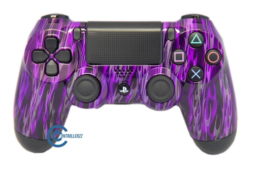Purple Flame PS4 Controller | Ps4