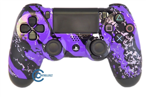 Purple Splatter PS4 Controller | Ps4