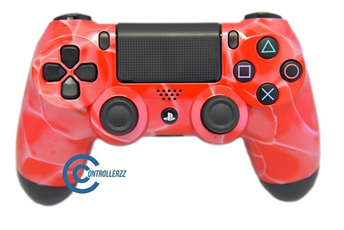 Red Swirl PS4 Controller   Ps4