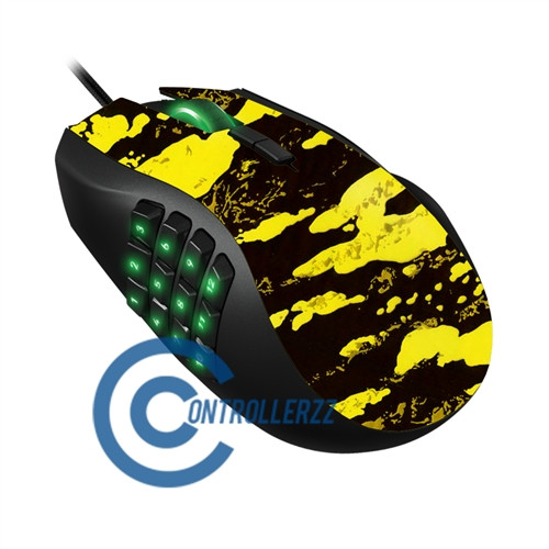 Yellow Splatter Razer Naga | Razer Naga