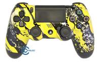 Yellow Splatter PS4 Controller | Ps4