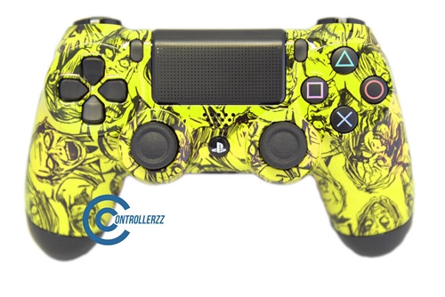 Yellow Zombie PS4 Controller | PS4