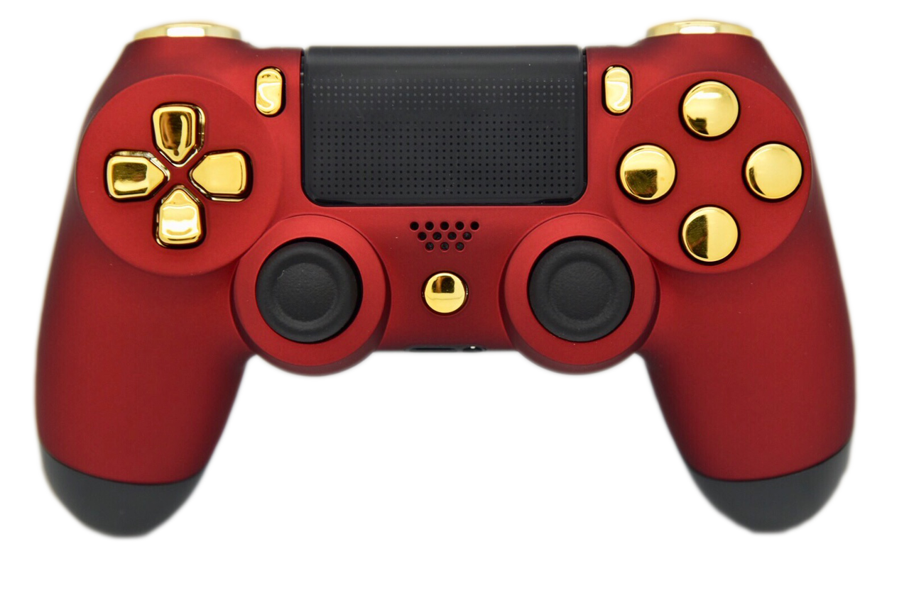 red gold soft touch ps4 controller