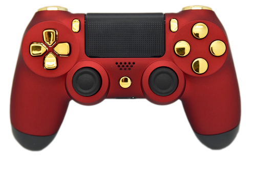 """Red & Gold """"Soft Touch"""" PS4 Controller 