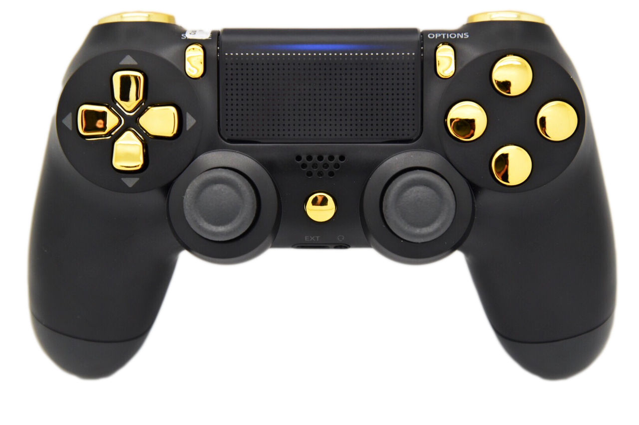 Black & Gold PS4 Controller