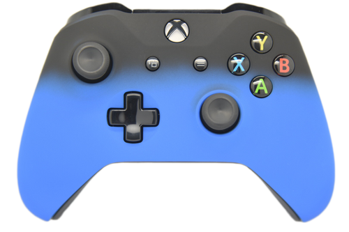 Blue & Black Fade Xbox One S Controller | Xbox One