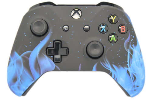 Blue Flame Xbox One S Controller | Xbox One