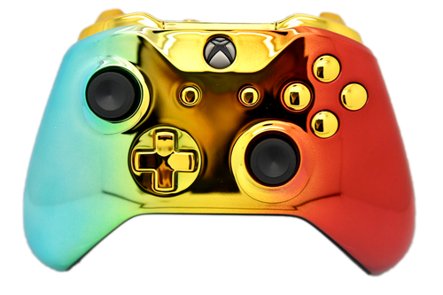 Rainbow Chrome Xbox One S Controller | Xbox One