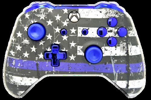 Blue Line & Blue Chrome Xbox One S Controller | Xbox One