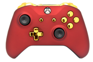 Matte Red & Gold Chrome Xbox One S Controller | Xbox One