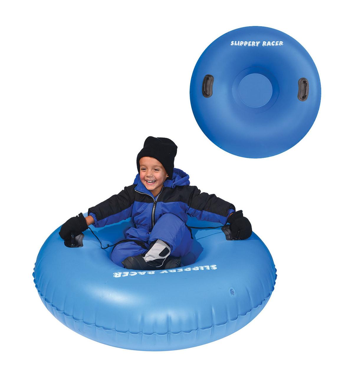 BLUE Slippery Racer Grande XL Commercial Inflatable Snow Tube Sled