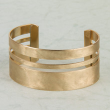 B1188-GD Matte Brushed Gold Cuff