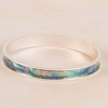B1211-GY Mother of Pearl Bangle