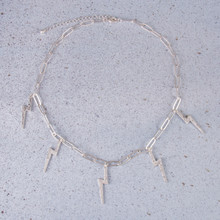 "N3258-SL 16"" Thunderbolt Necklace"