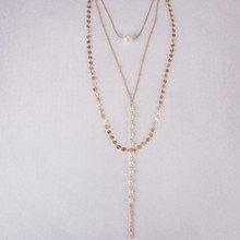 "N3259 16"" Layered Pearl Necklace"