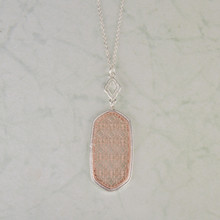 "N3260-SL 30"" Rose Gold Cutout Pendant"