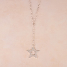 "N3264-SL 22"" Star Y Necklace"