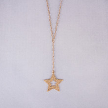 "N3264-GD 22"" Star Y Necklace"