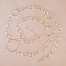 "N3266-SL 30"" Large Link Chain Necklace with Circles"