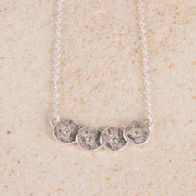 "N3269-SL 16"" Discs Bar Necklace"