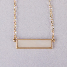 "N3272 15"" Mother of Pearl Bar Necklace"