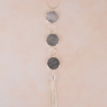 "N3273-GY 28"" Disc & Tassel Necklace"