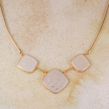 "N3274 18"" Two Tone Hammered Necklace"