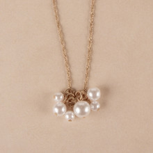 "N3276 17"" Pearl Cluster Necklace"