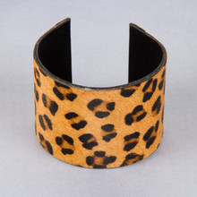 B1220-BR Faux Animal Hair Cuff Bracelet
