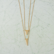 "N3280 16"" Double Triangle Necklace"