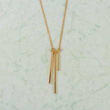 "N3281 28"" 3 Bar Dangle Necklace"