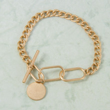 B1221-GD Toggle Chain Bracelet