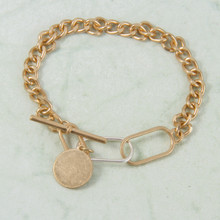 B1221-GS Toggle Chain Bracelet
