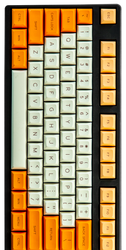 "DSA ""Creamsicle"" Keyset (Sublimated)"