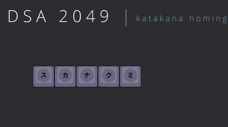 Katakana Homing Kit