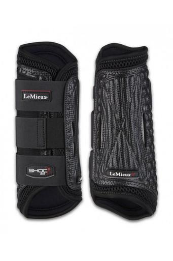 LeMieux Shoc Air XC Boots Front - Black