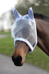 Saxon Fly Mask - White