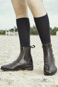 Lifestyle Image Of Dublin Ladies Evo Double Zip Front Paddock Boot - Black