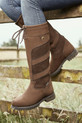 Lifestyle Shot Of The Dublin Ladies Kennet Boots in Chocolate Brown