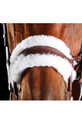 Noseband Of The Collegiate Comfitec Sheepskin Bridle
