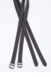 Collegiate Luxe Stirrup Leathers - Black