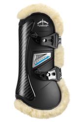 Veredus Carbon Gel Vento Tendon Boot Sheepskin in Black
