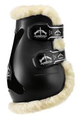Veredus Pro Jump Sheepskin Fetlock Boot - Black
