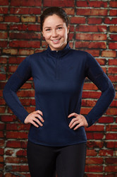 Dublin Ladies Moonstone Long Sleeve Tech Top - Navy