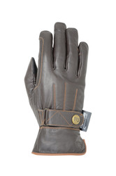 Hy5 Thinsulate Leather Winter Riding Gloves - Dark Brown