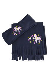 Little Rider Little Unicorn Head Band and Scarf Set - Navy