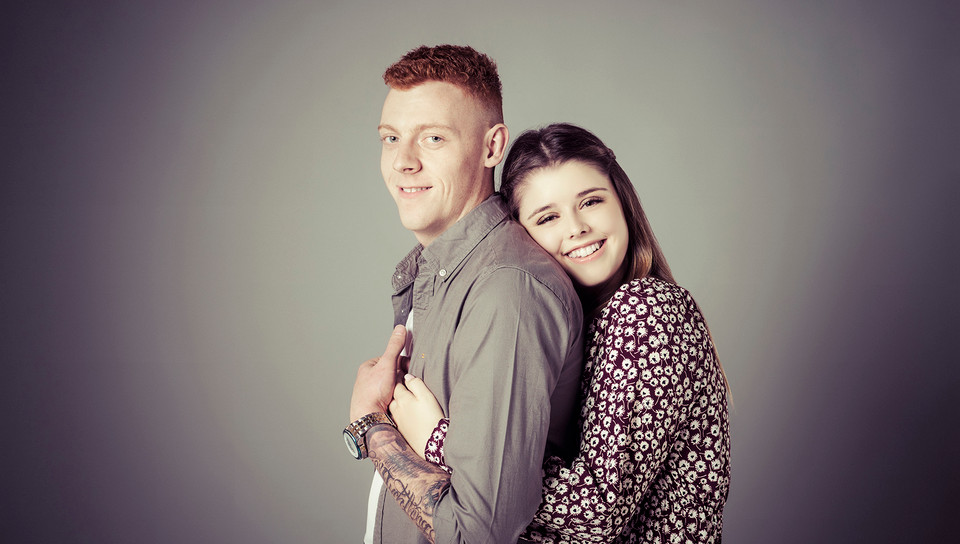 Emotion Studios couple photoshoot. Young couple Emotion Studios photography.