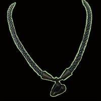 Handmade jewellery lampworked black heart neckalce