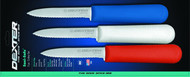 "Dexter Russell Sani-Safe 3 1/4"" 3-Pack Scalloped Paring Knives In Red White & Blue 15423 S104SC"
