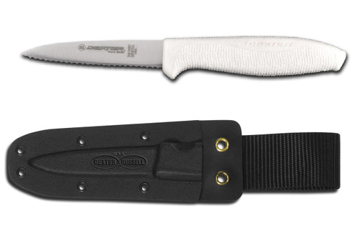 "Dexter Russell SofGrip 3 1/2"" Small Bait Chunking Knife With Sheath VB3937"